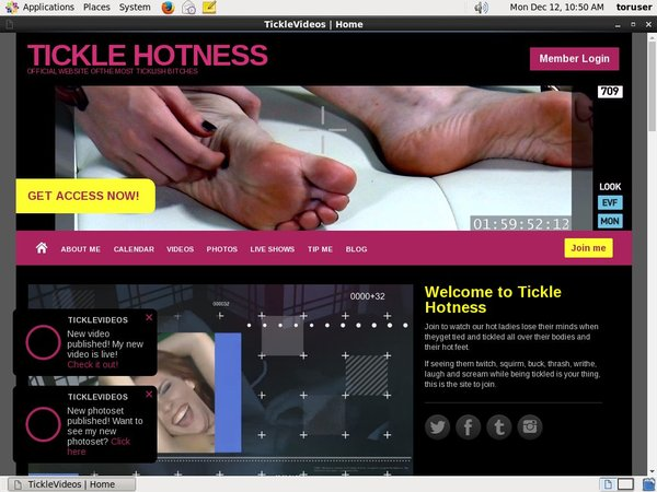 TICKLE HOTNESS Paypal Trial