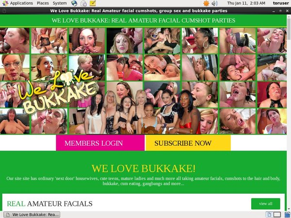 Welovebukkake.com Free Trial Membership