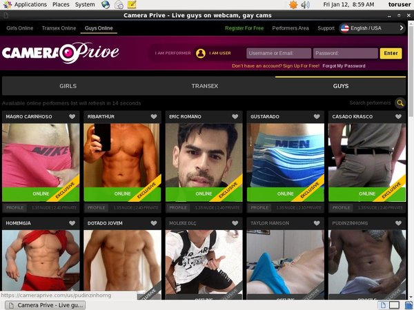 Camera Prive Gay Limited Promotion